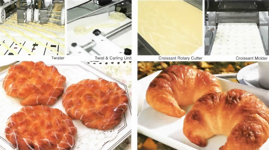 Twister, Twist & Carling Unit, Croissant Rotary Cutter, Croissant Molder